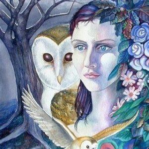 Celtic Art - Blodeuedd the Flower Maiden