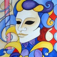 Carnivale - Other Art - acrylic on canvas inspired by the Venetian Carnevale Festival