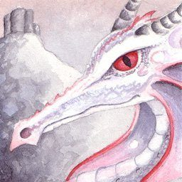Dragon Art - Salvino the Silver Dragon