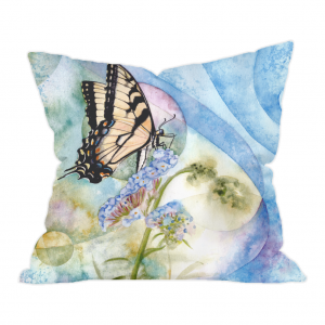 Eastern Tiger Swallowtail Butterfly design on a throw cushion