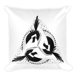 mockup c4c84828 300x300 - Celtic Magpies Cushion