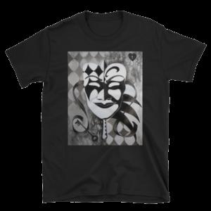 Monochrome Masquerade Unisex T-Shirt