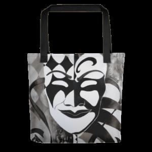 mockup f26ea638 300x300 - Monochrome Masquerade Tote bag