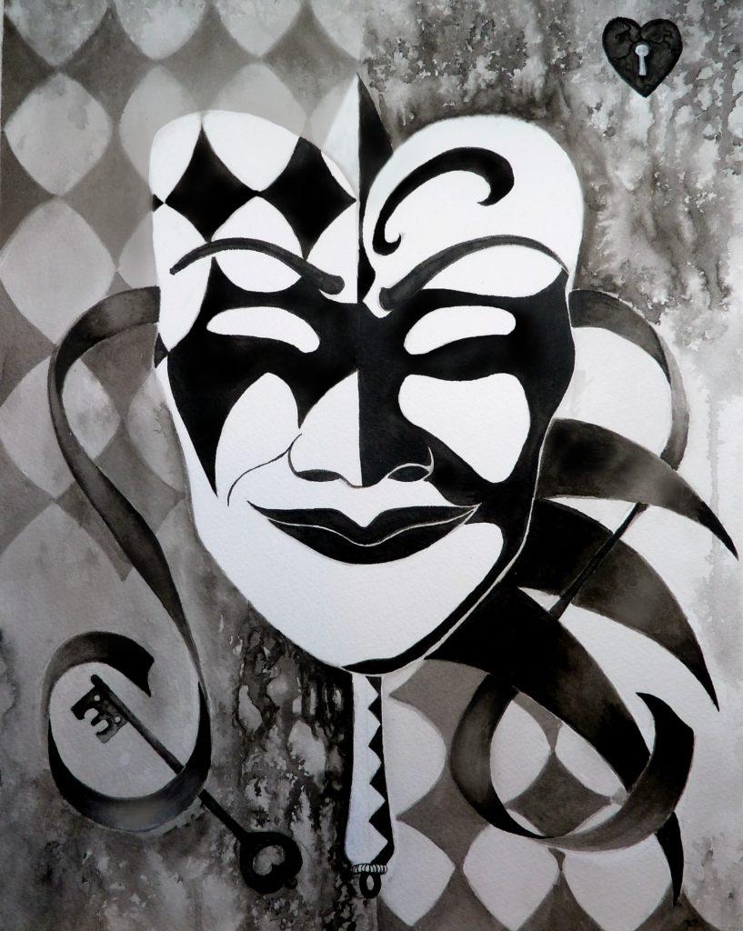 teelargemaskfile 817x1024 - Monochrome Masquerade