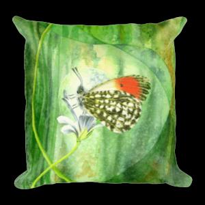 Orange Tip Butterfly Cushion