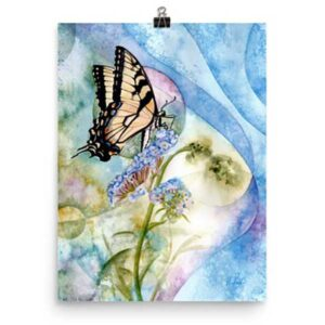 Eastern Tiger Swallowtail Art Print by Helen Frost Rich