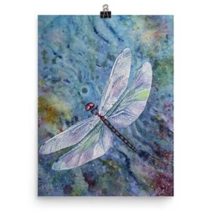 Dragonfly art print by Helen Frost Rich